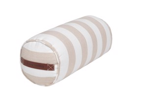 Cotton bolster aflang pude stribet farven powder fra Cozy Living
